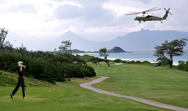 President Obama golfing in Hawaii