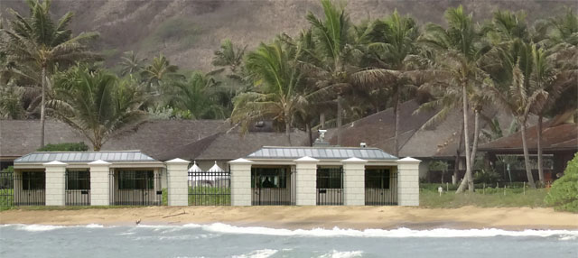 Obama rental house on Kailua Beach 2013