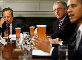 Beer is served on Friday afternoons in the Cabinet Room