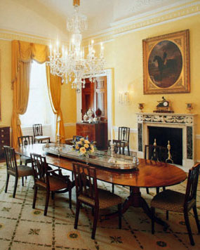 Dining Room on In The Intimate Setting Of The White House Family Dining Room