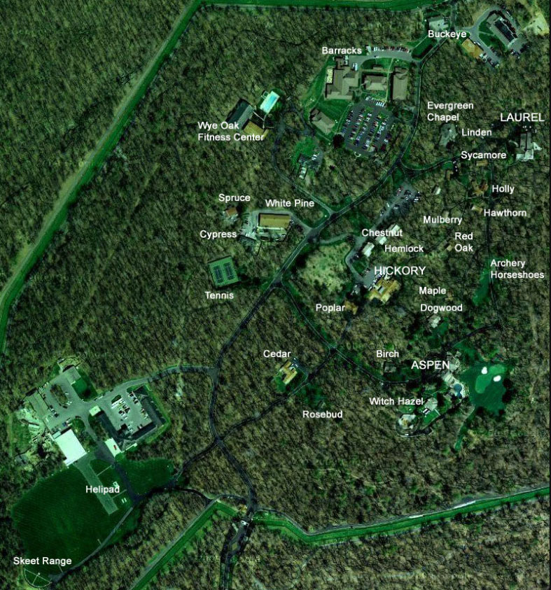 Camp David Map With Labels
