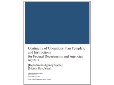 White House Continuity Of Government Plan And National
