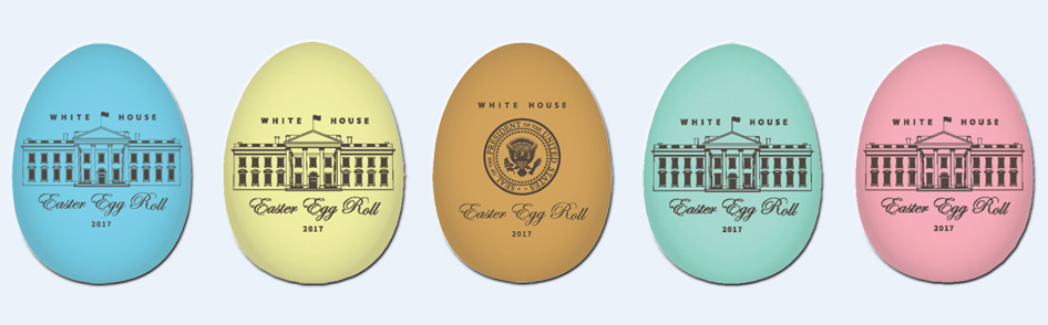 Official wooden White House Easter Eggs for 2017
