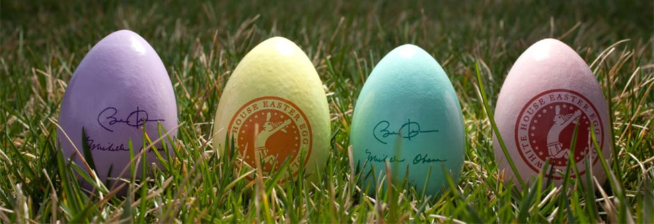 Official wooden White House Easter Eggs for 2016