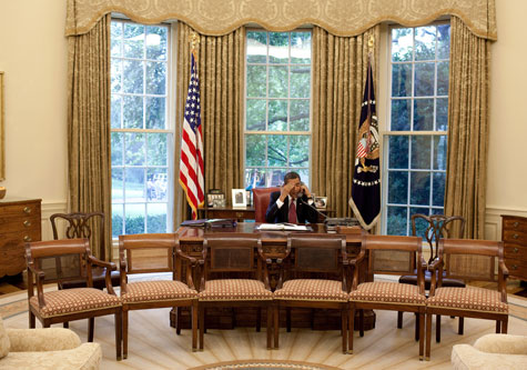 oval office white house. Fine Office Obama On Phone In Oval Office With White House