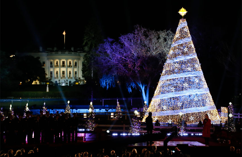 National Christmas Tree 2019.White House Christmas Tour