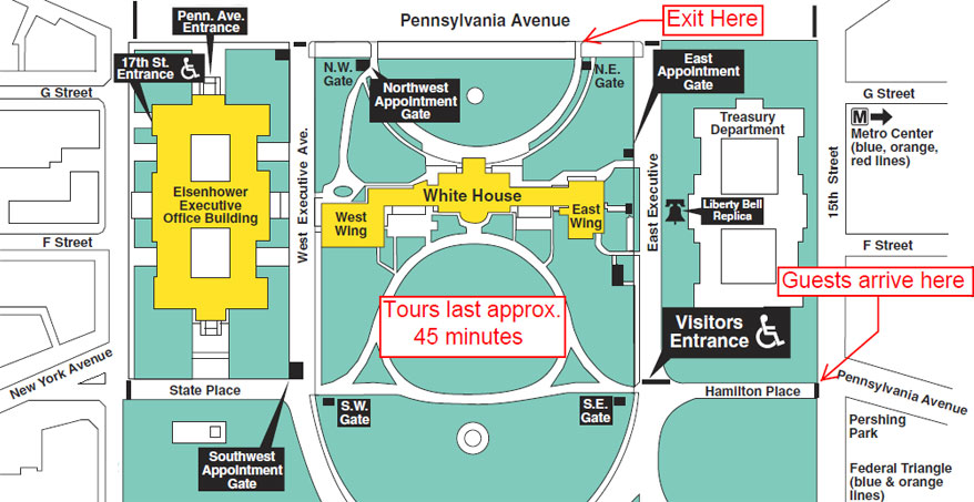 White house tours 2017 tickets maps and photos House map photo