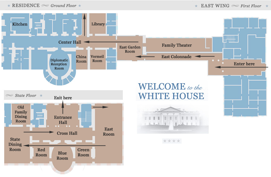 White house tours 2018 tickets maps and photos official white house tour map east wing lobby east garden room east colonnade ccuart Gallery