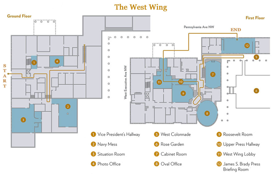 West Wing Map White House Tours 2019   Tickets, Maps, and Photos West Wing Map