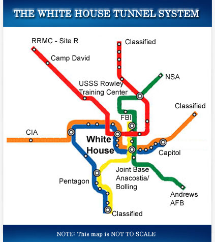 White House Tunnel System map