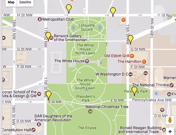 White House Web Cam Live Inside And Outside The White House - Map of us capitol grounds